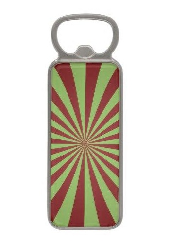 Red green rays Magnetic Bottle Opener