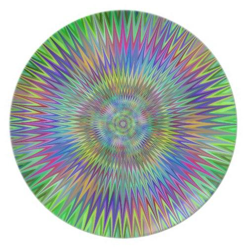 Hypnotic stars Melamine Plate