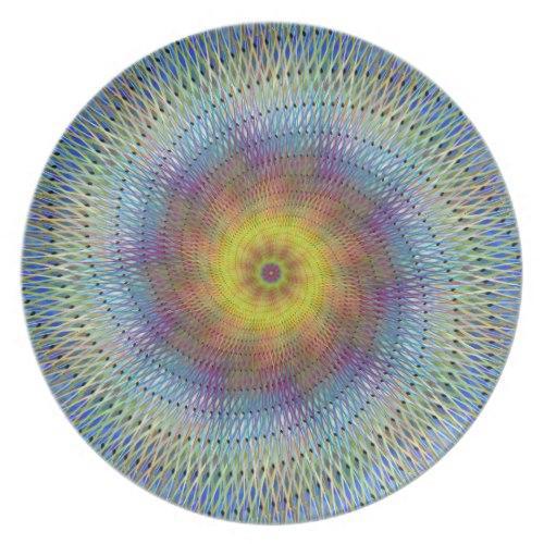 Psychedelic spiral Melamine Plate