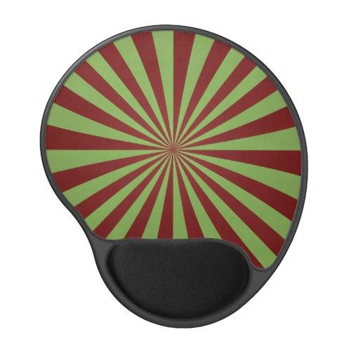 Red green rays Gel Mouse Pad