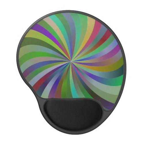 Colorful swirls Gel Mouse Pad
