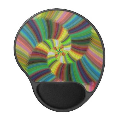 Colorful spiral Gel Mouse Pad