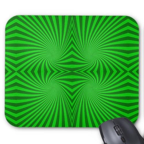 Green spiral pattern Standard Mouse Pad