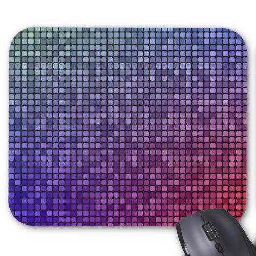 Disco fever pixel mosaic Standard Mouse Pad