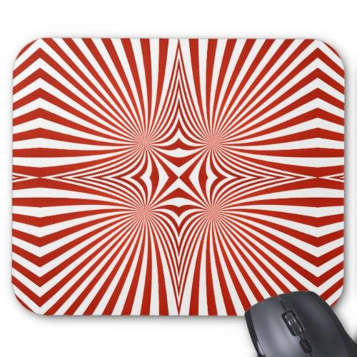 Red curved line pattern Standard Mouse Pad