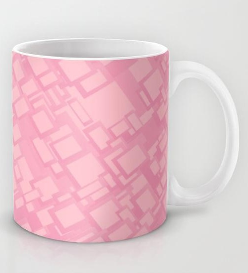 Vintage pink rectangle pattern Mug