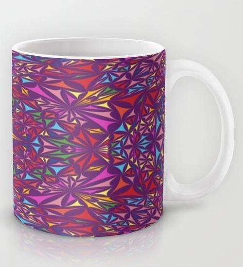 Colorful kaleidoscopic triangle design Mug