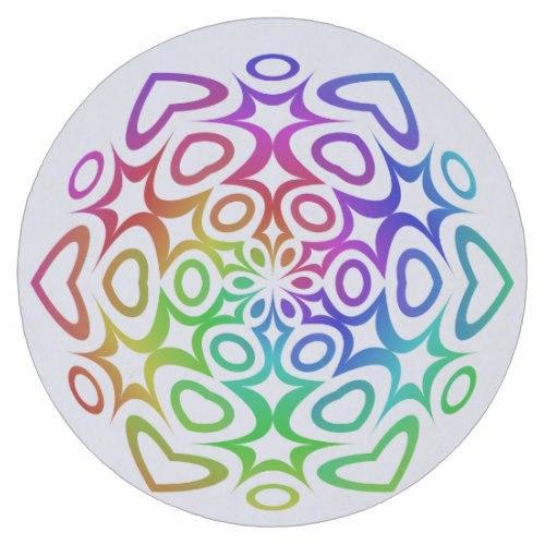 Rainbow ornament Round Paper Coaster