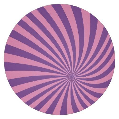 Pink purple vortex Round Paper Coaster