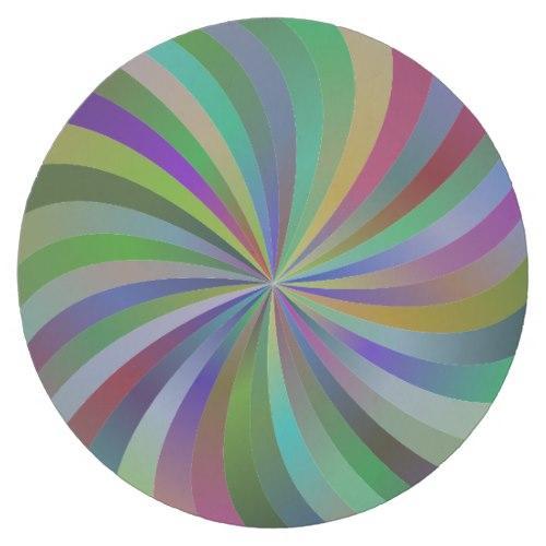 Colorful swirls Round Paper Coaster