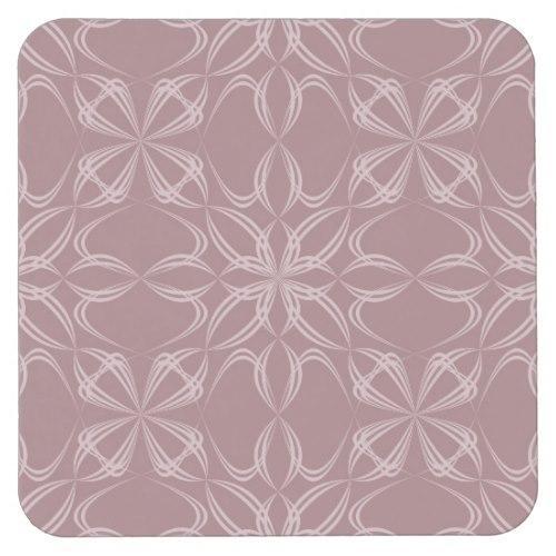 Vintage calligraphic pattern Square Paper Coaster