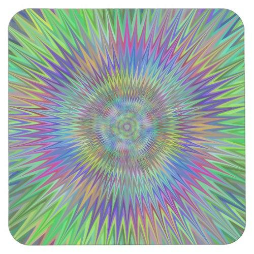 Hypnotic stars Square Paper Coaster
