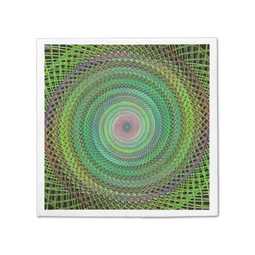 Multicolor fractal Paper Napkin
