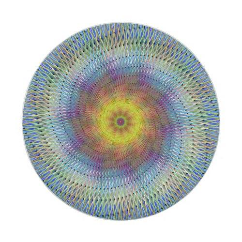 Psychedelic spiral Paper Plate