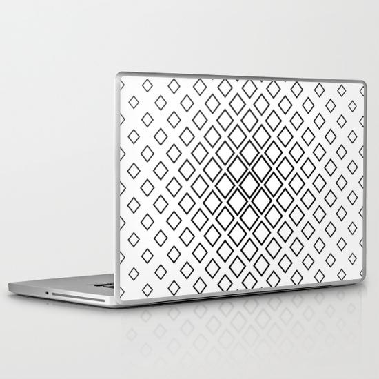 Seamless square pattern PC Laptop Skin