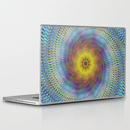 Psychedelic spiral PC Laptop Skin