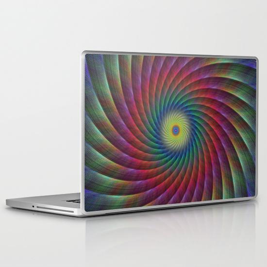 Swirl fractal PC Laptop Skin