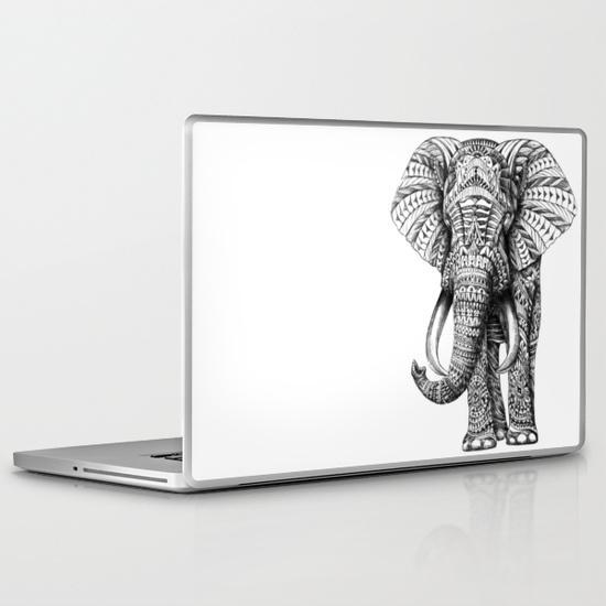 Ornate elephant PC Laptop Skin