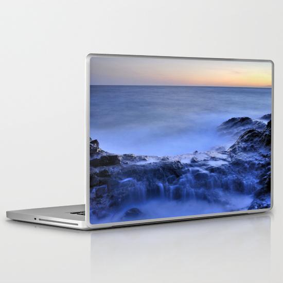 Blue seaside PC Laptop Skin