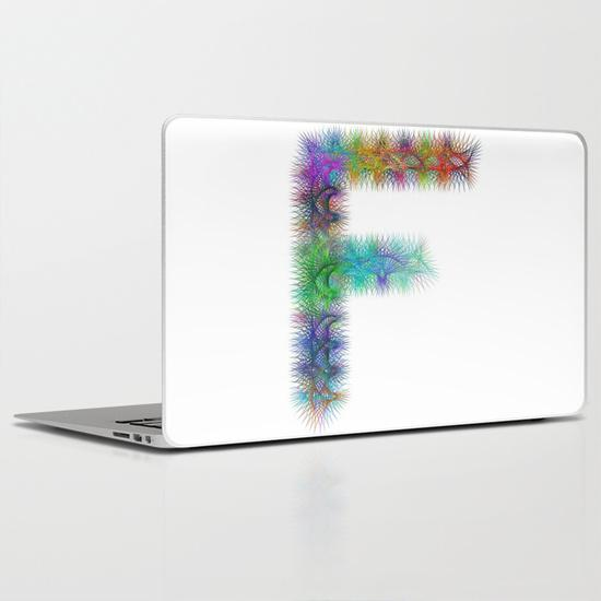 Letter F PC Laptop Skin