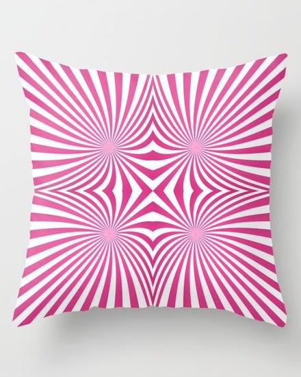 Pink seamless swirls Throw Pillow