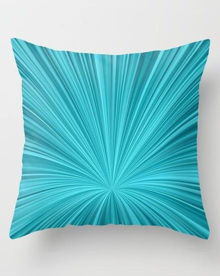 Blue vortex background Throw Pillow