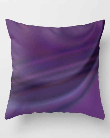 Purple abstract Throw Pillow