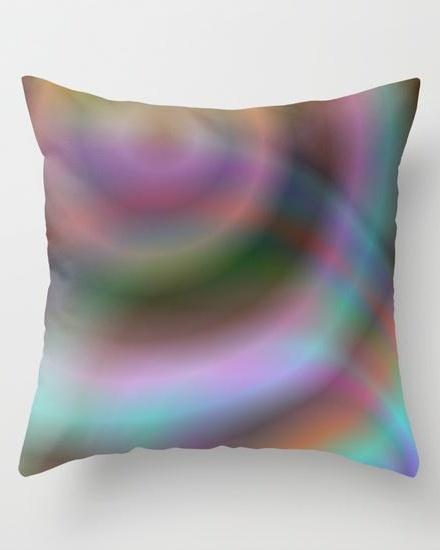 Color design Throw Pillow