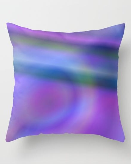 Purple blue abstract Throw Pillow