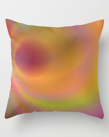 Orange color abstract Throw Pillow