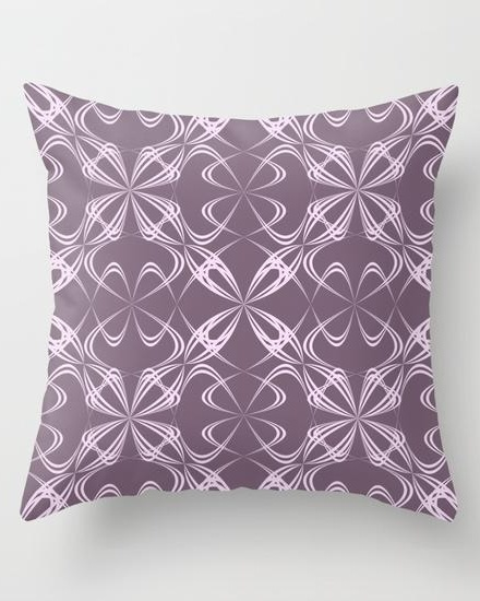 Calligraphy pattern Throw Pillow