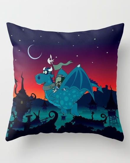 Night watch Throw Pillow