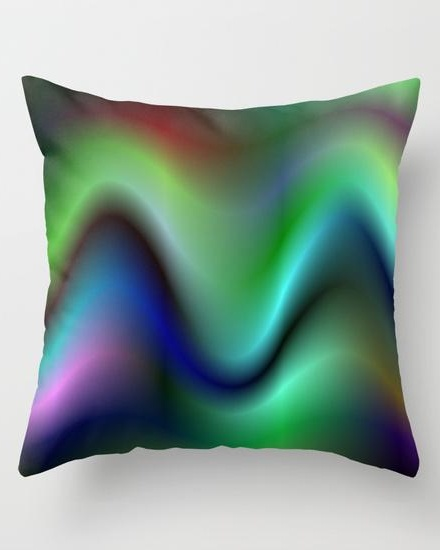 Electric waves Throw Pillow