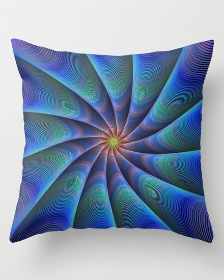 Path to meditation Throw Pillow