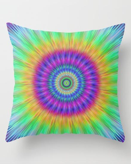 Colorful explosion Throw Pillow
