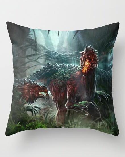 Dragon fight Throw Pillow