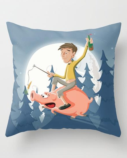Mental night Throw Pillow