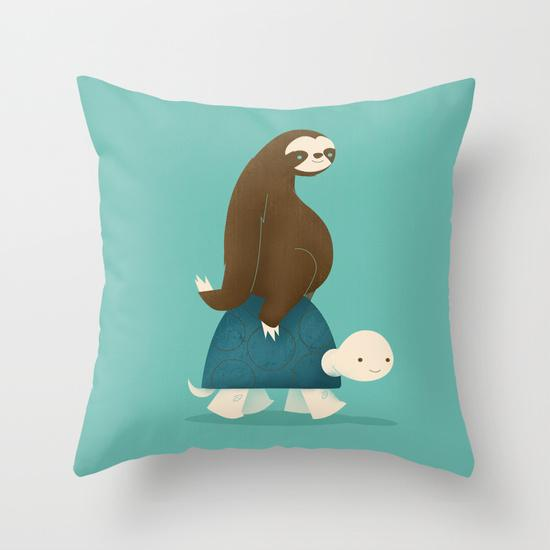 Slow Ride Outdoor Throw Pillow