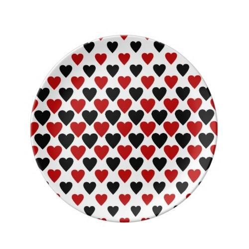 Heart pattern Porcelain Plate