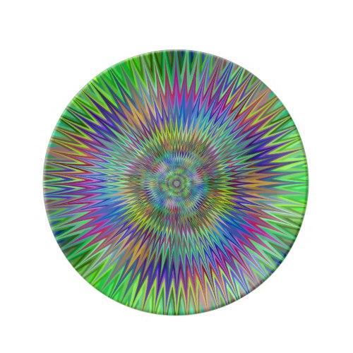 Hypnotic stars Porcelain Plate