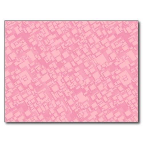 Pink rectangle pattern Postcard