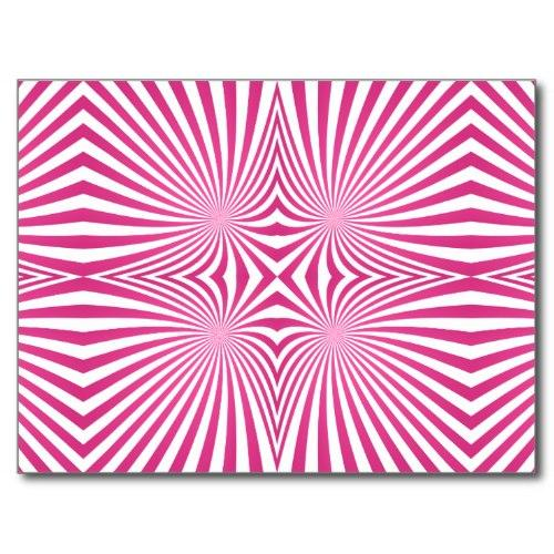 Pink curved line pattern Postcard
