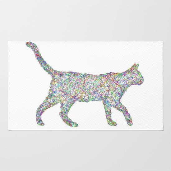Colorful dust kitten Rug
