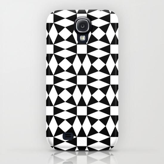 Black and white triangle pattern Samsung Galaxy S4 Case