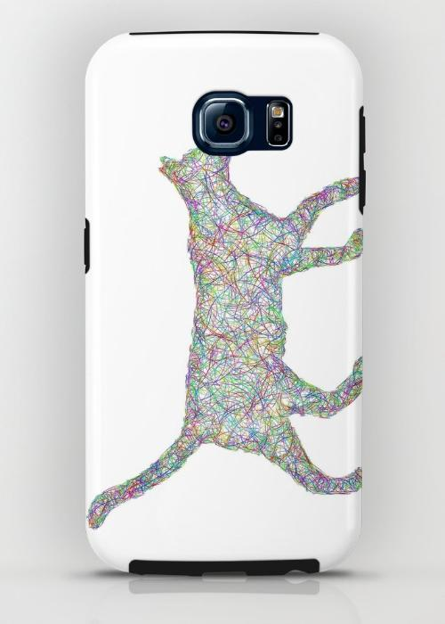 Colorful dust kitten Samsung Galaxy S6 Tough Case