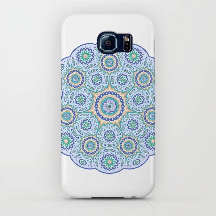 Round ornamental geometric pattern Samsung Galaxy S6 Case