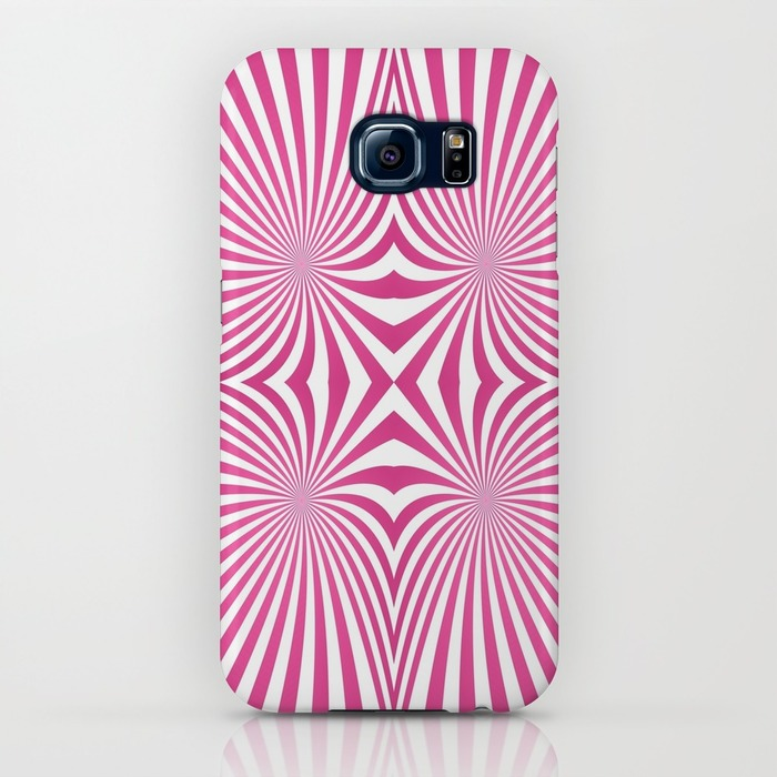 Pink seamless swirls Samsung Galaxy S6 Case