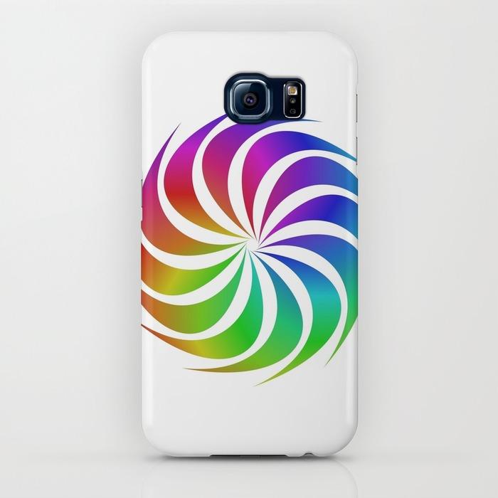 Rainbow spiral Samsung Galaxy S6 Case