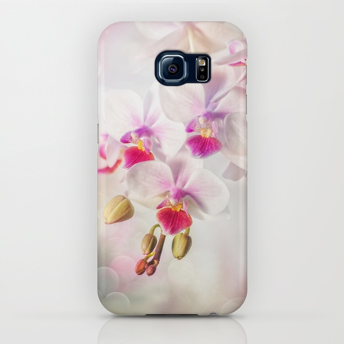 White orchid Samsung Galaxy S6 Case