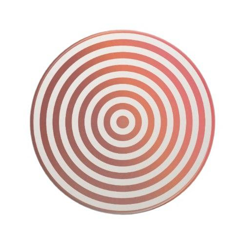 Red concentric circles Sandstone Coaster